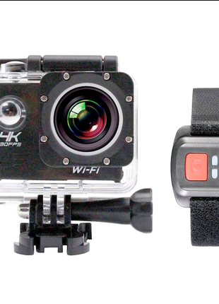 Экшн камера 4K H16-6R wi-fi + Видеорегистратор+ Аквабокс +креплен