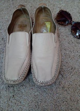 Pavers кожаные туфли размер английский4, наш 36-37, стелька 23.5