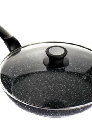 Сковорода с антипригарным гранитным покрытием 28 см с крышкой ...