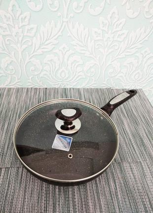 Сковорода сковородка с мраморным антипригарным покрытием 24 26 см