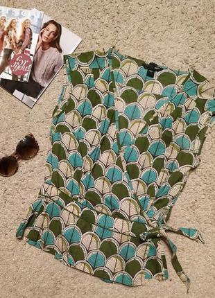 Легкая хлопковая блуза с запа'хом от h&m / m-l