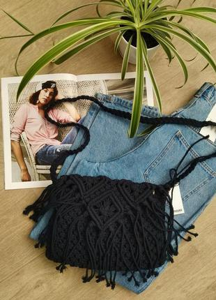 Сумка плетенная тренд