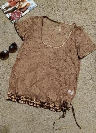 Невероятная кружевная блузка с бисером от next