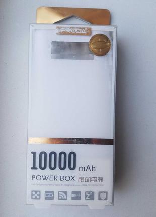 Power box 10000 mAh Proda MPS Prd Box White (Зарядное Power Bank)
