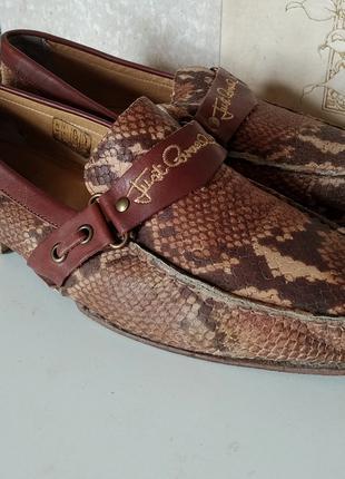 Кожаные туфли мужские Cavalli кожа питона. Р. 41. Змеиная кожа