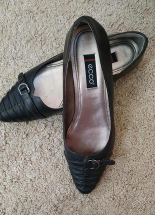 Ecco кожаные туфли
