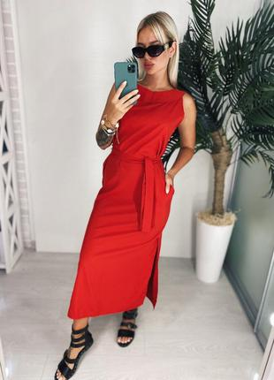 Платье миди ниже колен