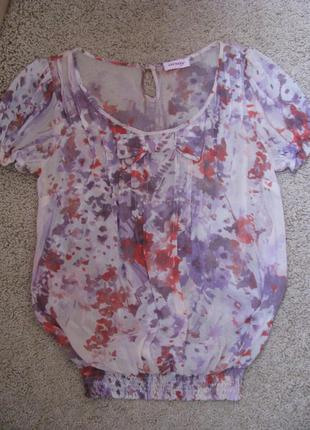 Orsay шифоновая блузочка с бантиком оригинал s-m