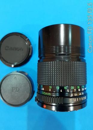 Объектив Canon FDn 135 mm . Ручной фокус. Байонет Canon FD