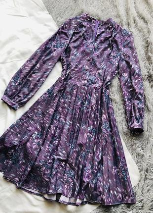Платье нежное фиолетовое в цветы