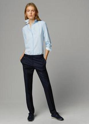 Esprit германия  котоновая голубая рубашка в полосочку
