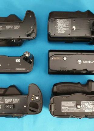 Sony Minolta Pentax. Батарейные блоки Ручки вертикального хвата