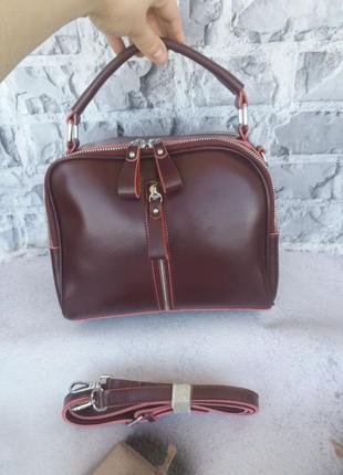 Кожаная сумка женская жіноча шкіряна