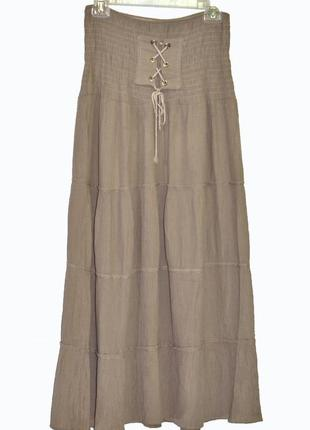 Очаровательная длинная юбка с воланами