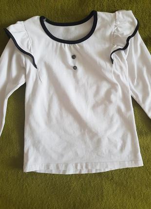 Блузка в школу кофточка белая