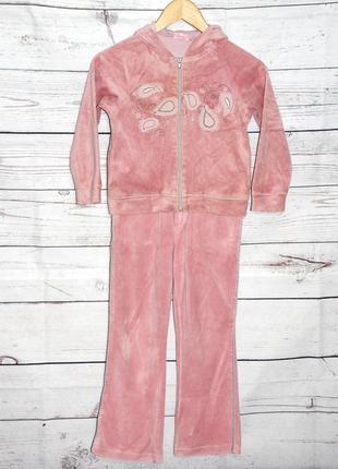 Велюровый костюм на девочку coccobello