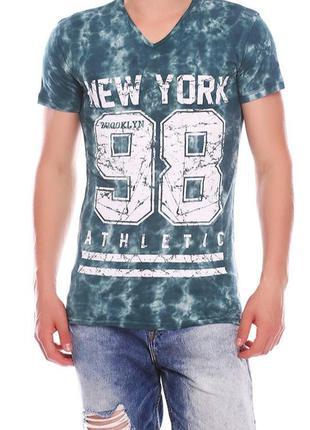 Мужская удлиненная трикотажная футболка с принтом , турция, ра...