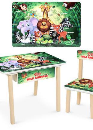 Детский деревянный столик со стульчиком и ящиком Bambi 803-83