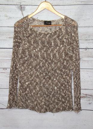Аnge/стильная теплая кофта/свитер/пуловер/джемпер с люрексовой...