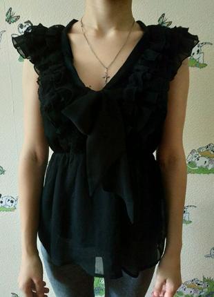 Блузка черная H&M