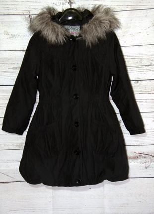 Крутая демисезонная куртка парка на девочку