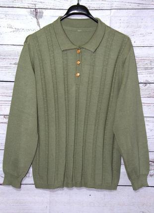 Очаровательный свитер/ джемпер кофта оливкового цвета