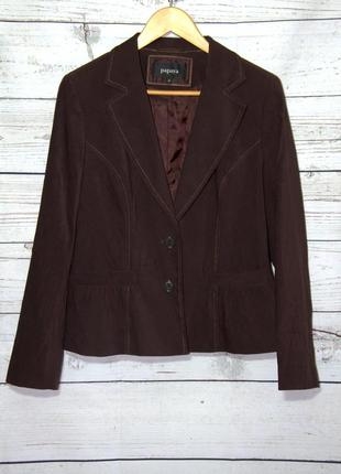 Очаровательный женский пиджак коричневого цвета