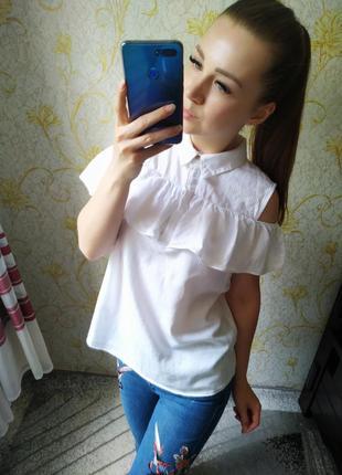 Шикарная блузка с открытыми плечами
