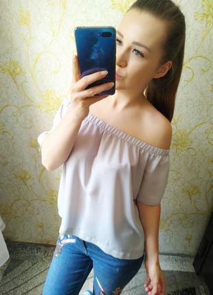 Красивая блузка на плечи (с открытыми плечами)