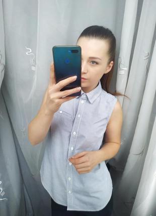 Красивая натуральная блузка в полосочку