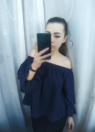 Шикарная блузка на плечи с открытыми плечами