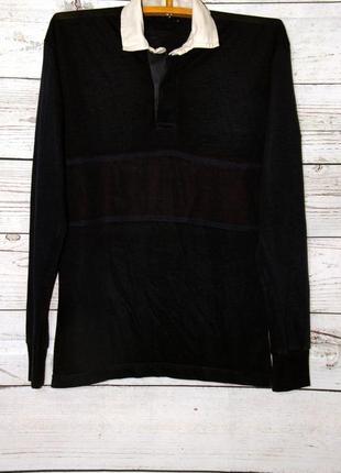 Темно-синий мужской пуловер кофта-рубашка