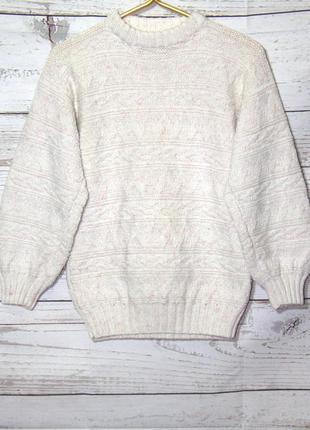 Теплый вязанный свитер для девочки