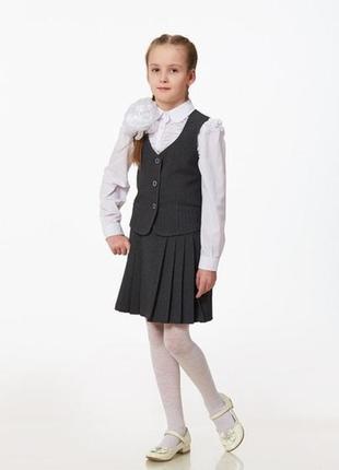 Школьная юбка  серого цвета