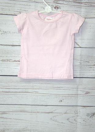 Нежная розовая футболка на 2 года