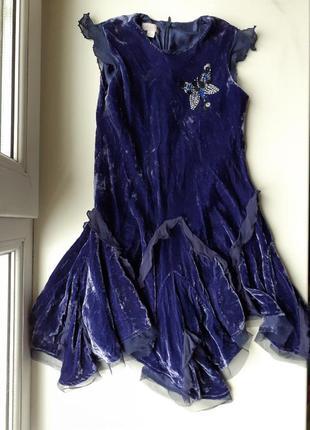 Велюровое бархатное платье с клиньями