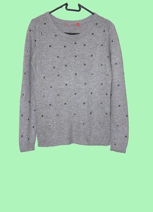 Крутой свитер джемпер серого цвета