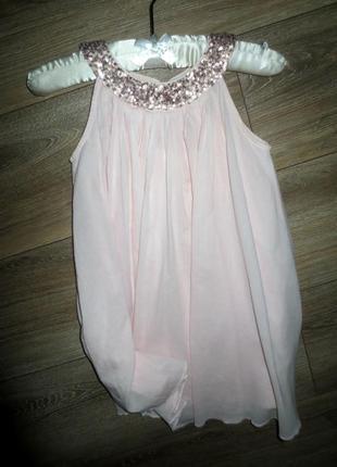 Нежное хлопковое платье пудрового цвета на красотку