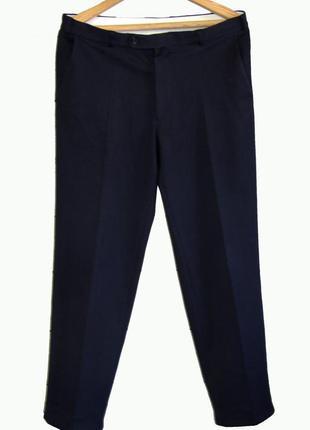Kingfield/стильные мужские брюки темно-синего цвета