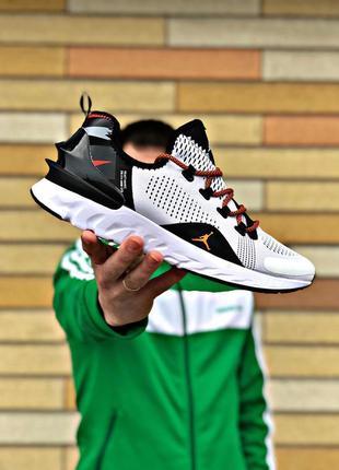 Крутейшие мужские кроссовки jordan react havoc белые с чёрным