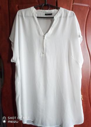 Легкая летняя футболка блузка батал