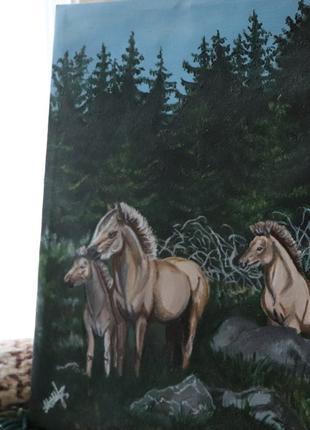Лошади, картина, живопись