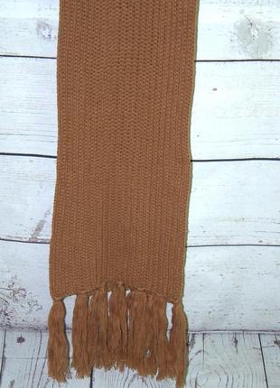 Женский вязанный теплый шарф