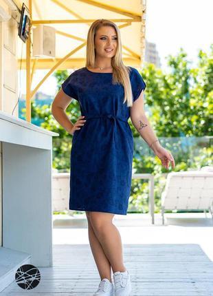 Льняное платье