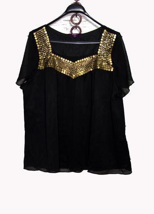 Шикарная блуза в пайетках uk24