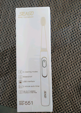 Электрическая зубная щетка SEAGO SG 551 Rechargeable Sonic