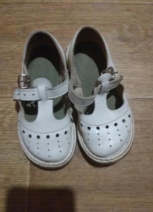 Детские кожаные сандалики