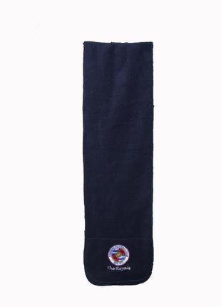 Мужской синий шарф из флиса