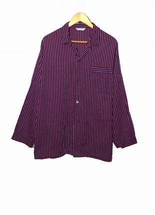 Мужская пижамная рубашка из 100 % коттона большего размера