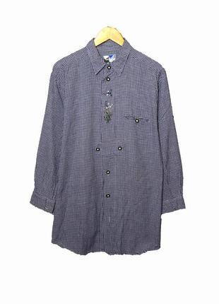 South creek стильная рубашка-туника в синюю клетку